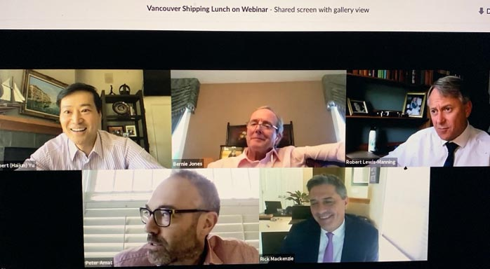 Vancouver Shipping Lunch goes to virtual Webinar
